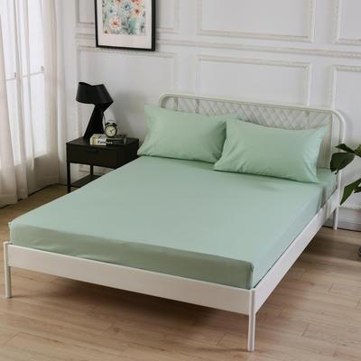 丽涵家纺  全棉13372纯色单品素色床笠 单件床笠 150cm*200cm 浅绿