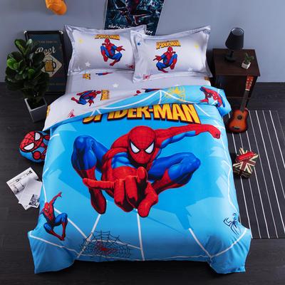 2018专版13376全棉大版卡通四件套纯棉儿童三件套 床单款三件套1.2m(4英尺)床 蜘蛛侠