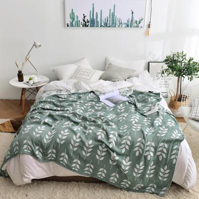 2019新款-竹纤维空调毯夏被 150x200cm/条 麦穗-绿