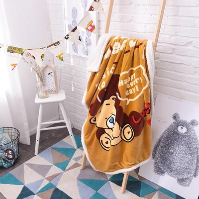 2017爆款大版羊羔绒童毯 100*140cm 咖啡熊