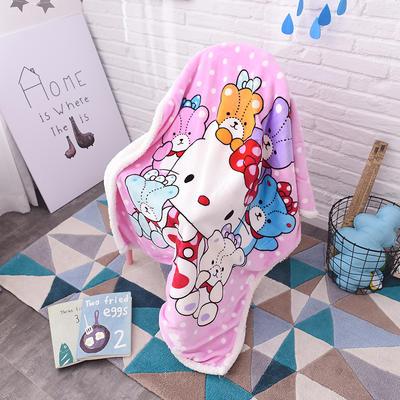 2017爆款大版羊羔绒童毯 100*140cm 玩具凯蒂