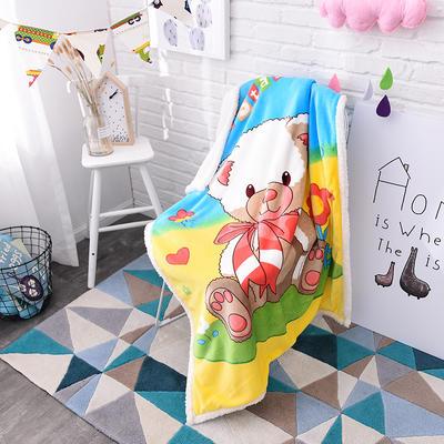 2017爆款大版羊羔绒童毯 100*140cm 玩具熊