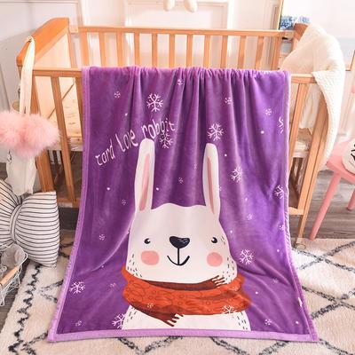 2018新款版权爆款童毯 95*140cm 紫兔(双层版)