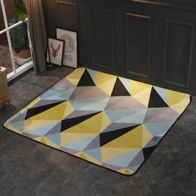 2018新款法兰绒复古简约地毯 150*190cm 北欧黄