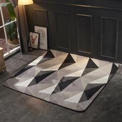2018新款法兰绒复古简约地毯 150*190cm 北欧灰