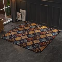 2018新款法兰绒复古简约地毯 150*190cm 花窗