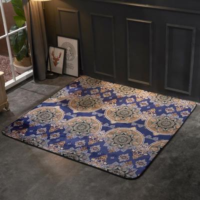 2018新款法兰绒复古简约地毯 150*190cm 泰纹