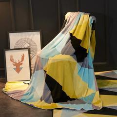 2018新款法兰绒复古简约毛毯 200*230cm 北欧黄