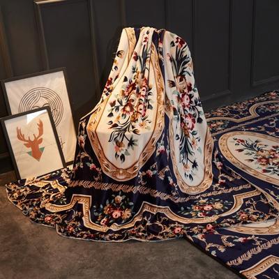 2018新款法兰绒复古简约毛毯 200*230cm 锦瑟