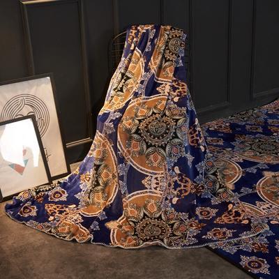 2018新款法兰绒复古简约毛毯 200*230cm 泰纹