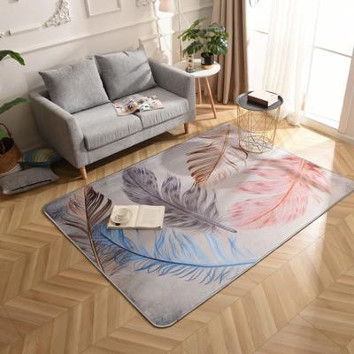 2019新款北欧印象风格硬质地毯 150*200 轻羽