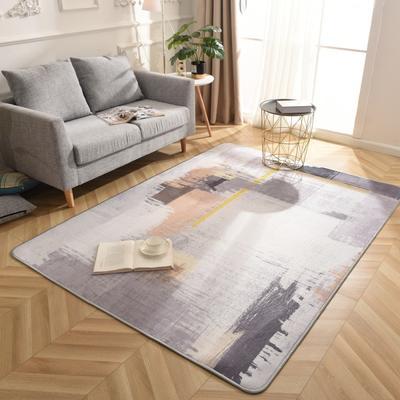 2019新款北欧印象风格硬质地毯 150*200 涂鸦