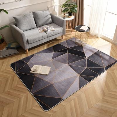 2019新款北欧印象风格硬质地毯 150*200 印象黑金