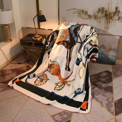 2020新款锦狐绒奢华毯 150cmx150cm毯子 贵族马4