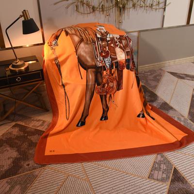 2020新款锦狐绒奢华毯 150cmx150cm毯子 皇马