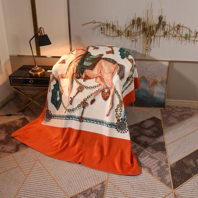2020新款锦狐绒奢华毯 150cmx150cm毯子 皇室马
