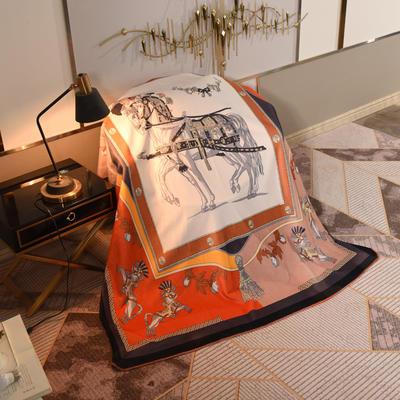 2020新款锦狐绒奢华毯 150cmx150cm毯子 皇室马2