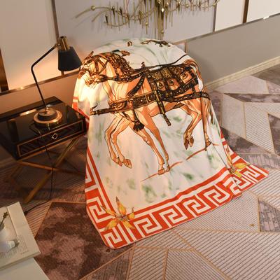 2020新款锦狐绒奢华毯 150cmx150cm毯子 皇室马3