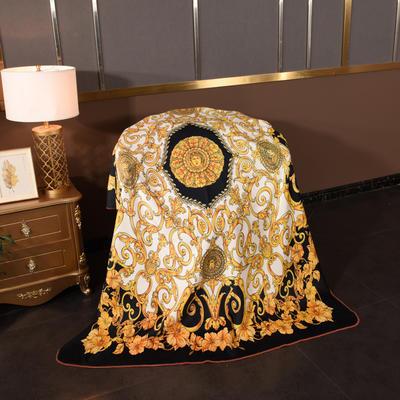 2020新款锦狐绒奢华毯 150cmx150cm毯子 金色盛典