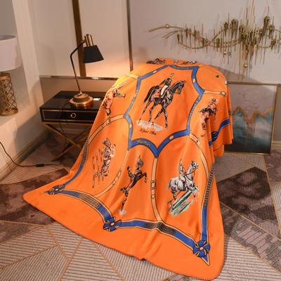 2020新款锦狐绒奢华毯 150cmx150cm毯子 爵士黄