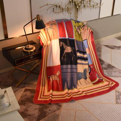 2020新款锦狐绒奢华毯 150cmx150cm毯子 马