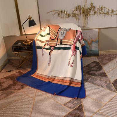 2020新款锦狐绒奢华毯 150cmx150cm毯子 马2