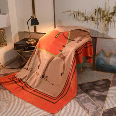2020新款锦狐绒奢华毯 150cmx150cm毯子 马3