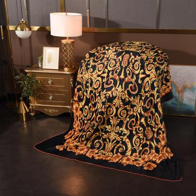 2020新款锦狐绒奢华毯 150cmx150cm毯子 铜鎏金