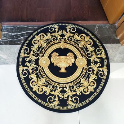 2020新款-加厚防滑底圆形地垫地毯中美式复古奢华风格 直径100cm 圣杯