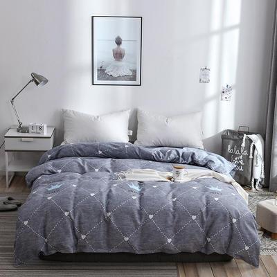 2019新品-斜纹活性磨毛单被套植物羊绒澳棉磨毛被套小清新 150x200cm 法式情怀