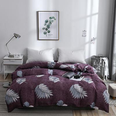 2019新品-斜纹活性磨毛单被套植物羊绒澳棉化纤磨毛被套 150x200cm 古韵风情