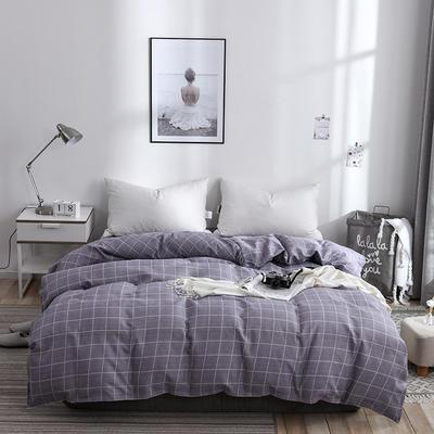 2019新品-斜纹活性磨毛单被套植物羊绒澳棉化纤磨毛被套 150x200cm 魅力约定