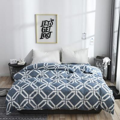 2019新品-斜纹活性磨毛单被套植物羊绒澳棉化纤磨毛被套 150x200cm 奇幻世界