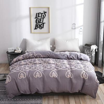 2019新品-斜纹活性磨毛单被套植物羊绒澳棉化纤磨毛被套 150x200cm 尚云