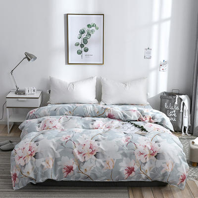 2019新品-斜纹活性磨毛单被套植物羊绒澳棉化纤磨毛被套 150x200cm 睡美人