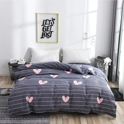 2019新品-斜纹活性磨毛单被套植物羊绒澳棉化纤磨毛被套 150x200cm 心花