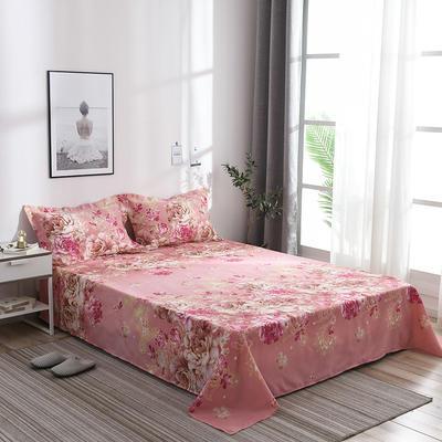 2019新品-斜纹活性磨毛单床单 植物羊绒澳棉化纤磨毛床单 1.2床:160cmx230cm 菲儿花园