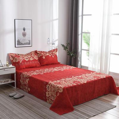 2019新品-斜纹活性磨毛单床单 植物羊绒澳棉化纤磨毛床单 1.2床:160cmx230cm 花语之都