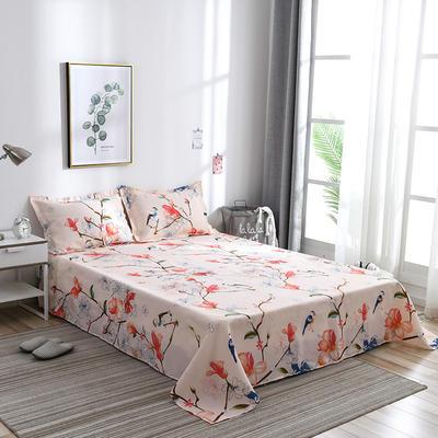 2019新品-斜纹活性磨毛单床单植物羊绒澳棉磨毛床单暖阳棉 1.2床:160cmx230cm 鸟语清晨