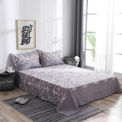 2019新品-斜纹活性磨毛单床单 植物羊绒澳棉化纤磨毛床单 1.2床:160cmx230cm 尚云