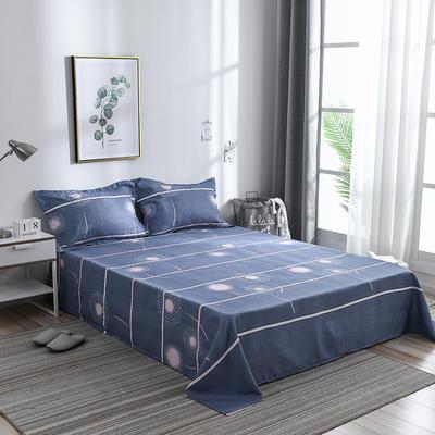 2019新品-斜纹活性磨毛单床单植物羊绒澳棉磨毛床单暖阳棉 1.2床:160cmx230cm 时尚天空