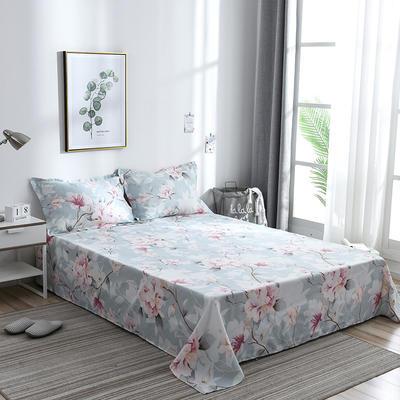 2019新品-斜纹活性磨毛单床单 植物羊绒澳棉化纤磨毛床单 1.2床:160cmx230cm 睡美人