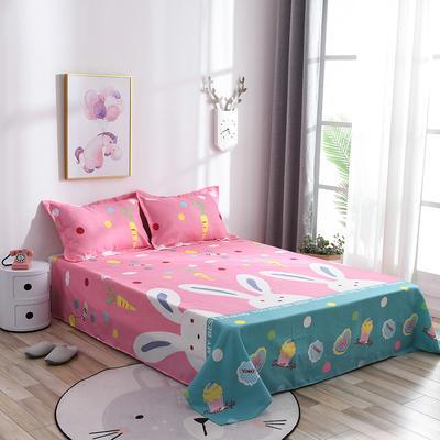 2019新品-斜纹活性磨毛单床单植物羊绒澳棉磨毛床单暖阳棉 1.2床:160cmx230cm 兔宝贝