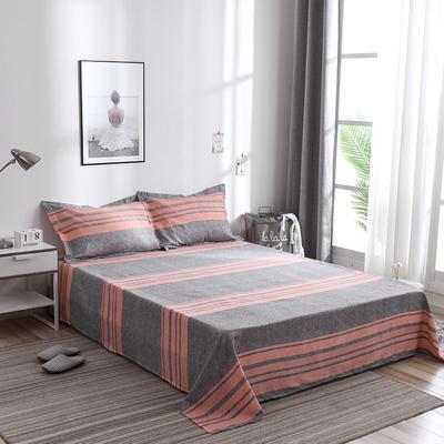 2019新品-斜纹活性磨毛单床单 植物羊绒澳棉化纤磨毛床单 1.2床:160cmx230cm 托斯卡纳
