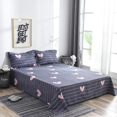 2019新品-斜纹活性磨毛单床单 植物羊绒澳棉化纤磨毛床单 1.2床:160cmx230cm 心花