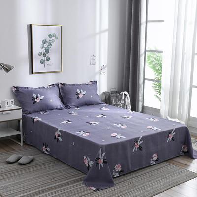 2019新品-斜纹活性磨毛单床单 植物羊绒澳棉化纤磨毛床单 1.2床:160cmx230cm 嫣语花香
