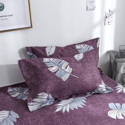 2019新品-斜纹活性磨毛单枕套 植物羊绒澳棉化纤磨毛枕套 48cmX74cm / 对 古韵风情