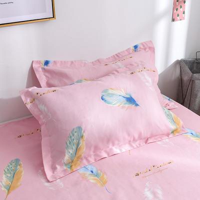 2019新品-斜纹活性磨毛单枕套 植物羊绒澳棉化纤磨毛枕套 48cmX74cm / 对 花羽菲菲