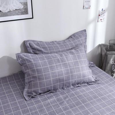 2019新品-斜纹活性磨毛单枕套 植物羊绒澳棉化纤磨毛枕套 48cmX74cm / 对 魅力约定