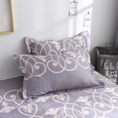 2019新品-斜纹活性磨毛单枕套 植物羊绒澳棉化纤磨毛枕套 48cmX74cm / 对 尚云
